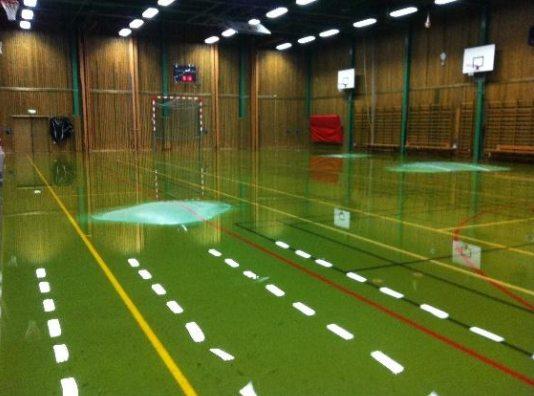 Vattenskada/översvämning Sporthallen Mariannelund