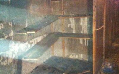 Brandskada i källarförråd